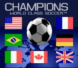 Champions World Class Soccer SNES Title screen (US/European version)