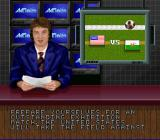 Champions World Class Soccer SNES An announcer for the TV broadcast.