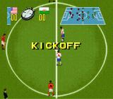 Champions World Class Soccer SNES The kickoff.