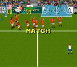 Champions World Class Soccer SNES The match is over. Wales won.