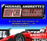 Michael Andretti's Indy Car Challenge SNES Title screen