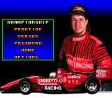 Michael Andretti's Indy Car Challenge SNES Main menu