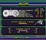 Michael Andretti's Indy Car Challenge SNES Options