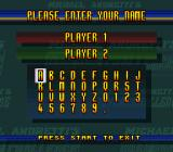 Michael Andretti's Indy Car Challenge SNES Enter a name