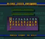 Michael Andretti's Indy Car Challenge SNES Password screen