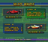 Michael Andretti's Indy Car Challenge SNES Select a vehicle