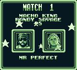 WWF Superstars Game Boy See who you will fight in the next match
