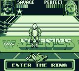 WWF Superstars Game Boy The action may take place out of the ring as well