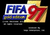 FIFA Soccer 97 Genesis Title screen (Genesis gold edition)