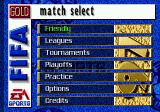 FIFA Soccer 97 Genesis Match select