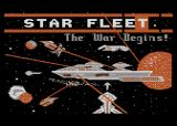 Star Fleet I: The War Begins! Atari 8-bit Title screen