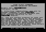 Star Fleet I: The War Begins! Atari 8-bit Mission briefing