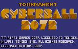 Cyberball Lynx Title screen