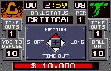 Cyberball Lynx Select what type of pass to throw.