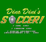 Dino Dini's Soccer SNES Title screen