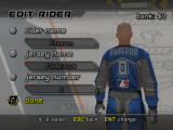 MTX Mototrax Windows Setting the name and number of the rider