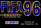 FIFA Soccer 96 Genesis Title screen