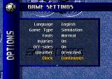 FIFA Soccer 96 Genesis Options - and quite a lot of them, compared to earlier soccer simulations