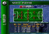 FIFA Soccer 96 Genesis Selecting players to start the game