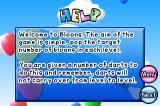 Bloons iPhone Help screen, explaining the game