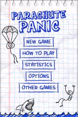 Parachute Panic iPhone Title screen and menu