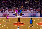 NBA Jam Genesis Jumping for the first ball