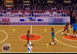 NBA Jam Genesis Waiting near the middle line without a clear idea of what to do next...