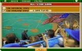 Tony La Russa Baseball II DOS All-Star game starting.