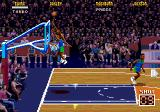 NBA Jam Tournament Edition Genesis Nice hook shot à la Jabbar