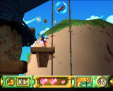 Klonoa: Door to Phantomile PlayStation Riding the windmill's lift