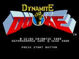 Dynamite Duke Genesis Title screen