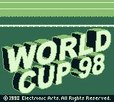 World Cup 98 Game Boy Title screen