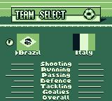 World Cup 98 Game Boy Select your team