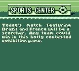 World Cup 98 Game Boy Announcing the exhibition game.