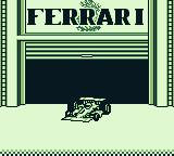 Ferrari Grand Prix Challenge Game Boy Pulling out of the garage.
