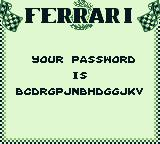 Ferrari Grand Prix Challenge Game Boy Your password.