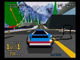 Time Warner Interactive's VR Virtua Racing SEGA Saturn The Alpine track.  You can't have a racing game without an icy track.