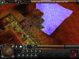 Dungeon Keeper 2 Windows Imps excavating a new room area, and grabbing some gold.
