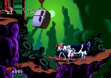 Earthworm Jim Genesis This cow is a puzzle! Figure out how to launch it