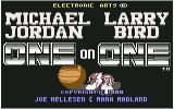 Jordan vs Bird: One on One Commodore 64 Title screen