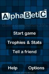 Alphabetic iPhone Title Screen