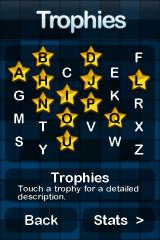 Alphabetic iPhone Complete specific conditions to earn trophies