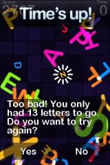 Alphabetic iPhone Bad luck - game over.