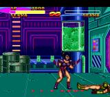 "Double Dragon V: The Shadow Falls Genesis The ""bad"" Sekka is defeated and lying in a pool of her own blood"