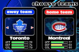NHL Hitz 20-03 Game Boy Advance Choose your teams...