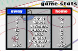 NHL Hitz 20-03 Game Boy Advance between periods, you can check out how your team is performing statistically.