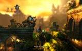 Trine Windows The defeated skeleton leaves behind health and experience.