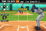 Baseball Advance Game Boy Advance The pitcher paints the corner for a strike!