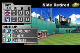 Baseball Advance Game Boy Advance Between innings, you can see how your team is doing statistically.