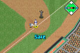 Baseball Advance Game Boy Advance Close call at first base.